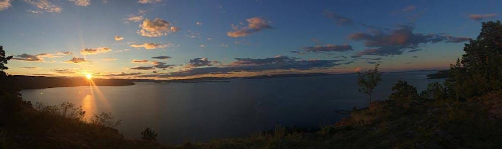 Solnedgang over Oslo Fjorden
